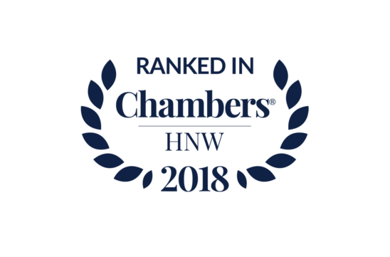 SSW Pragmatic Solutions ranked in Chambers High Net Worth (HNW) 2018